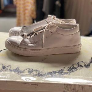 K-Swiss white leather sneakers SZ 9